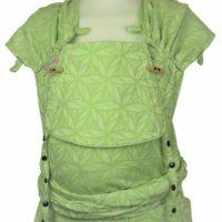 Babytrage Fräulein Hübsch Wrap Con Babysize hellgrün weiß florales Muster