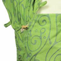 Babytrage Fräulein Hübsch WrapCon Babysize Hellgrün mit geschwungenem, grauen Muster