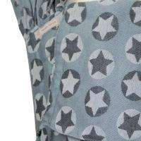 Babytrage Fräulein Hübsch WrapCon Toddlersize Hellgrau mit weißen und dunkelgrauen Sternen