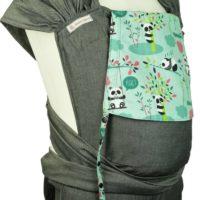 Babytrage Fräulein Hübsch WrapCon Toddlersize Dunkelgau mit Pandas