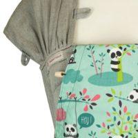 Babytrage Fräulein Hübsch WrapCon Babysize Hellgrau mit Pandas