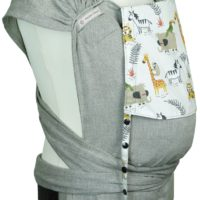 Babycarrier WrapCon Toddlersize with animals from the jungle and savannah